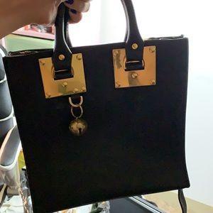 Sophie Hulmes Handbag black and gold